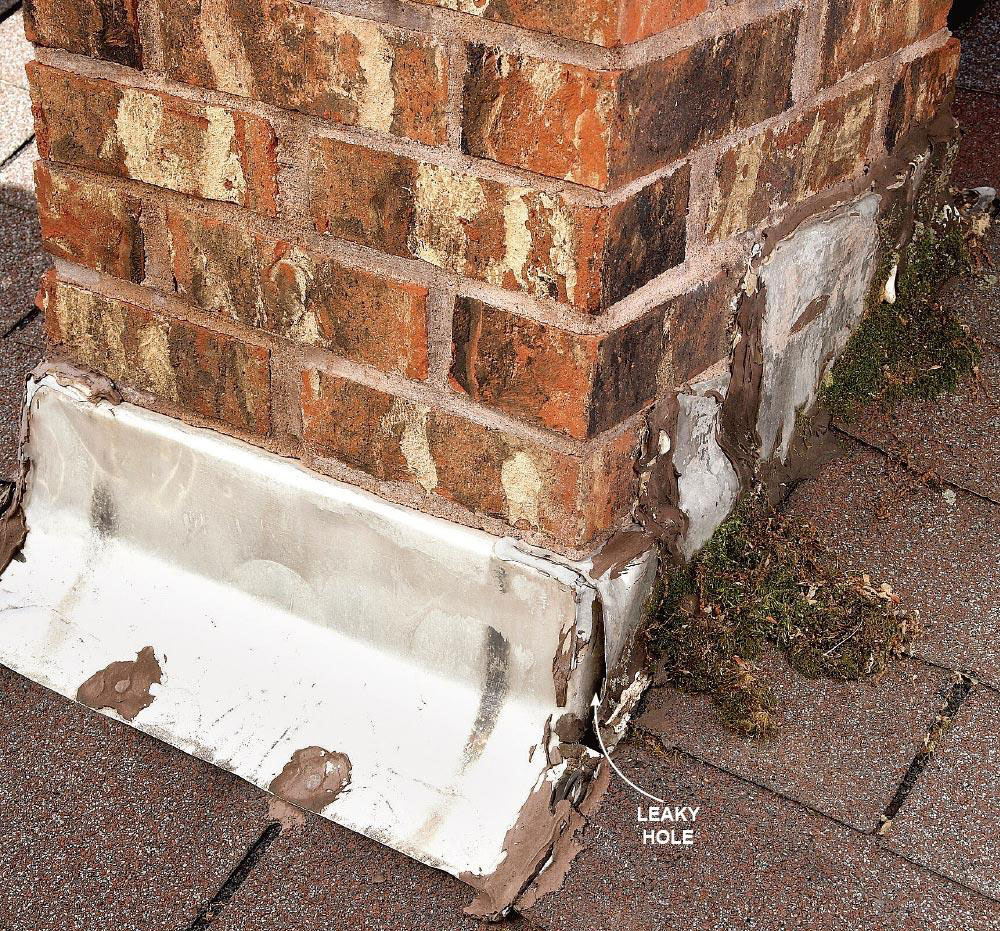 Leak chimney How to repair a leaky roof from the inside (quick tips)