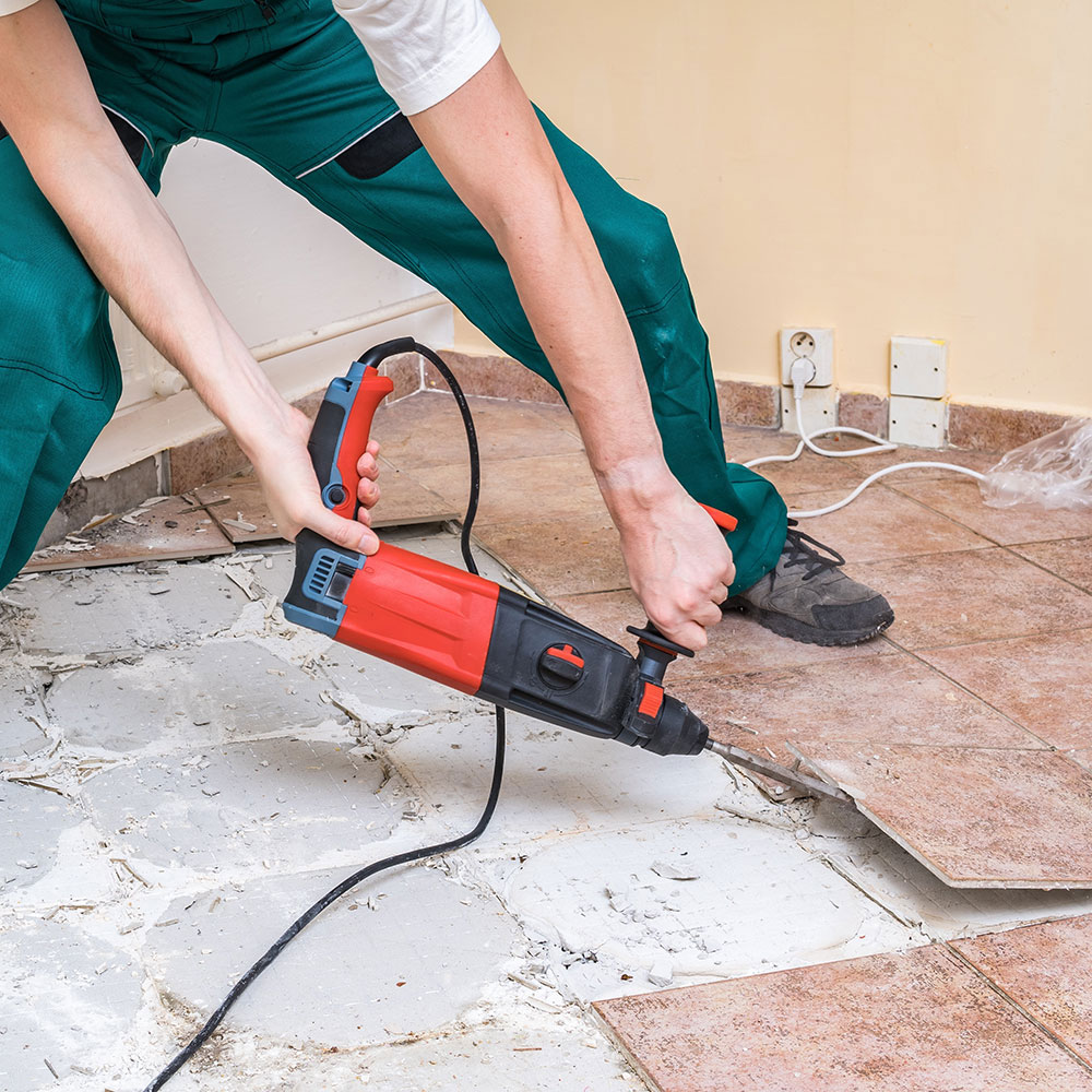 Removing the mat How to remove bathroom tiles and not cause any major problems
