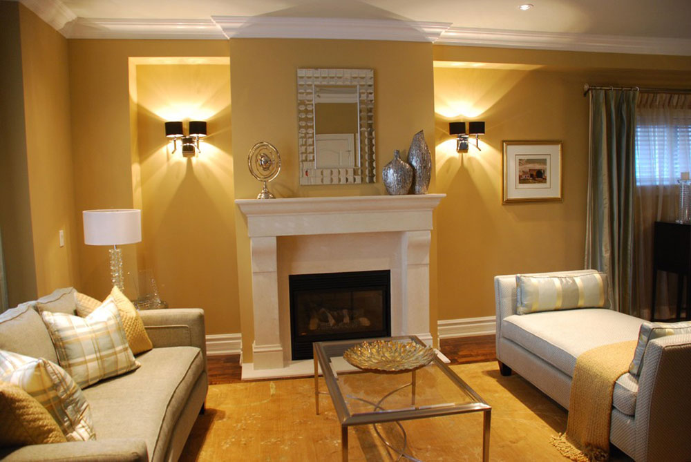 Living-Room-by-Chic-Decor How to illuminate a living room without ceiling lighting