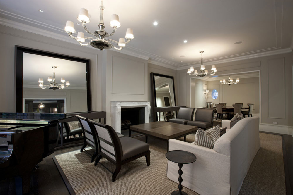 Living room-by-Michael-Abrams-Interieur How to illuminate a living room without ceiling lighting