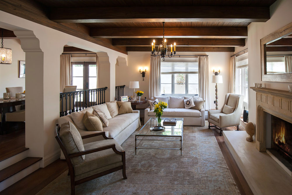 Spanish-White-Mediterranean-Living-room-of-Maraya-Interior Design How to illuminate a living room without ceiling lighting