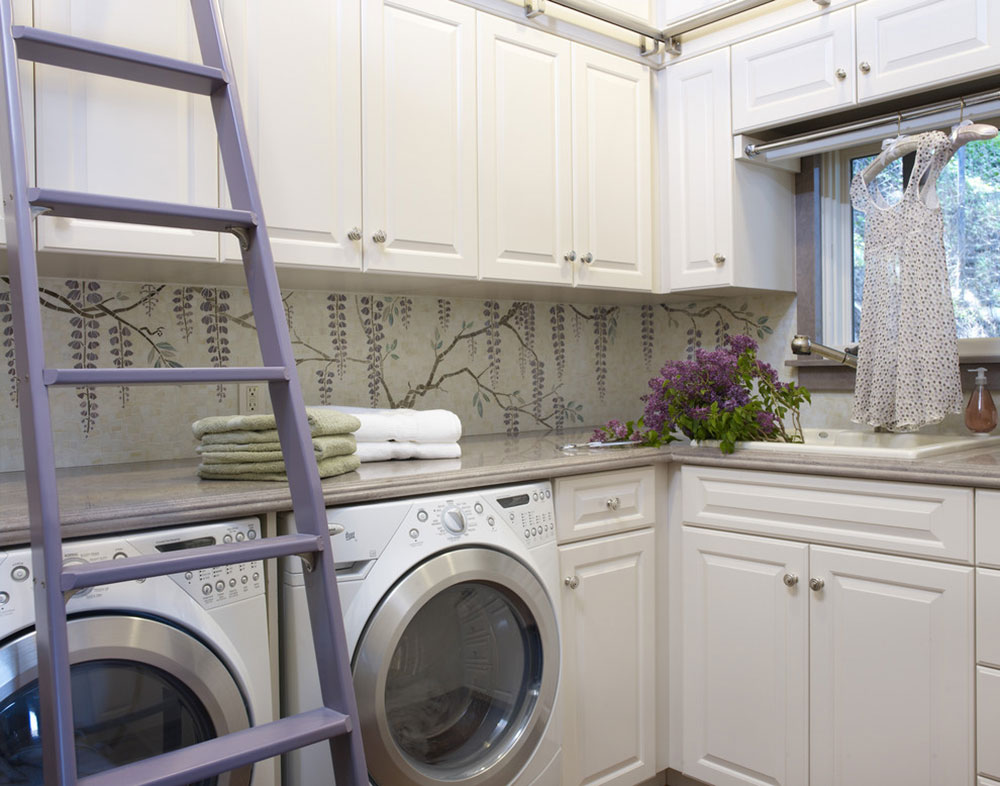 California-Mediterranean-Estate-Laundry Room-by-Sarah-Barnard-Design How do I organize a laundry room?  Some storage ideas