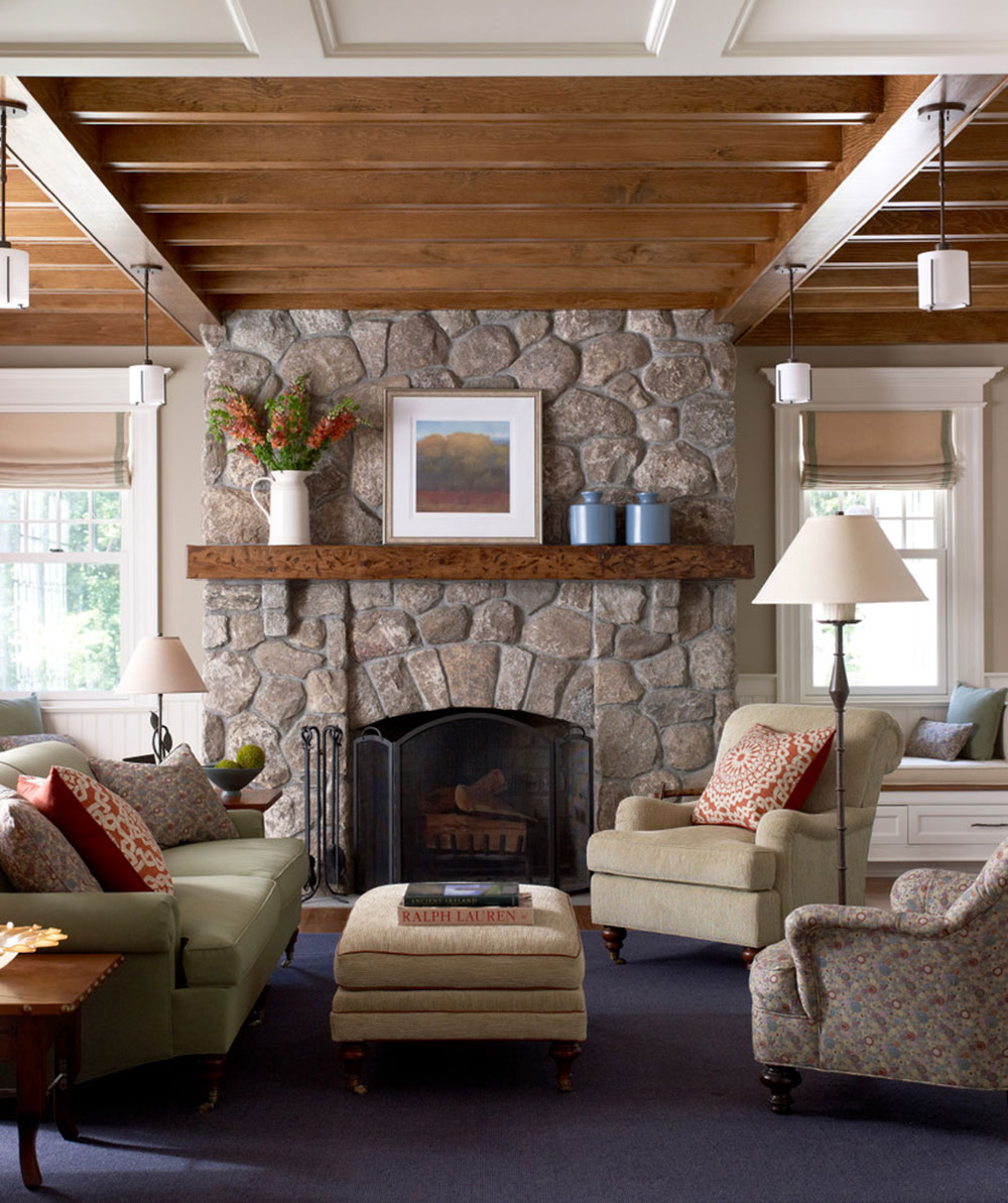 New-Canaan-Shingle-Style-by-Michael-Smith-Architects How to redesign a fireplace to look fantastic