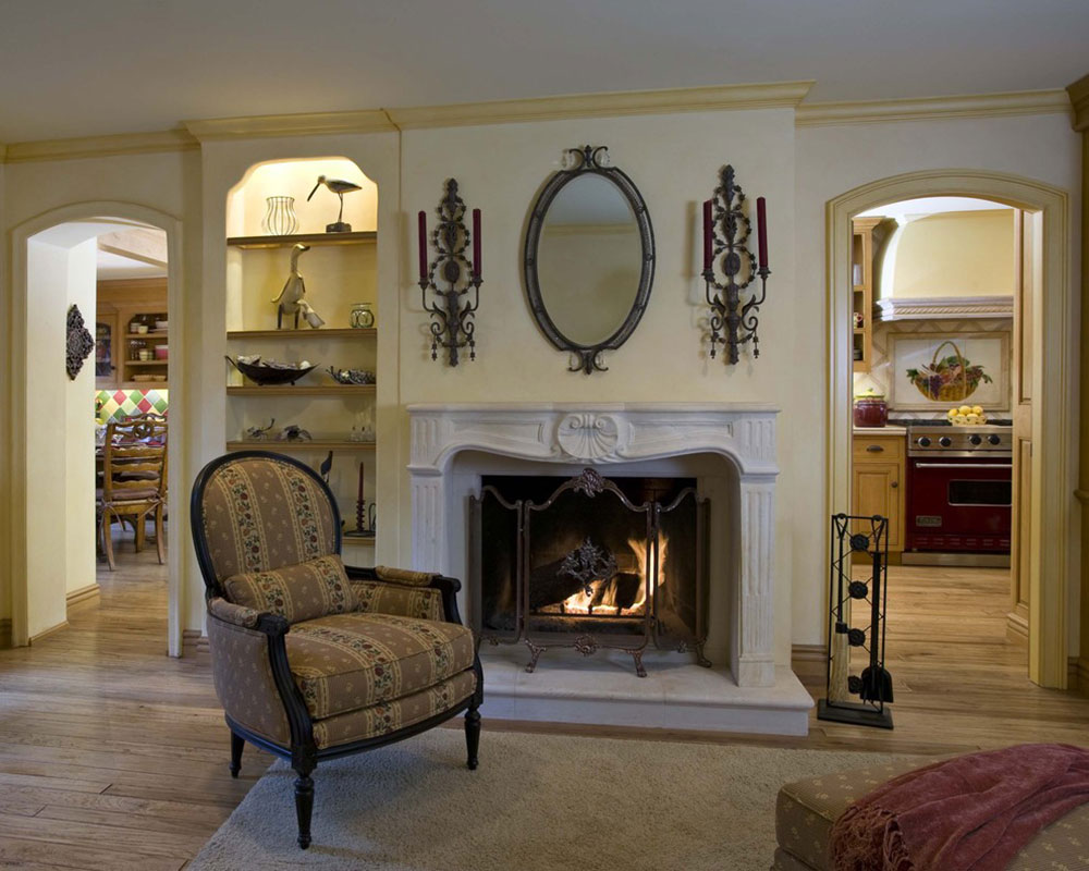 Country-French-Family-Room-by-Peg-Berens-Interior-Design-LLC How to redesign a fireplace to look fantastic