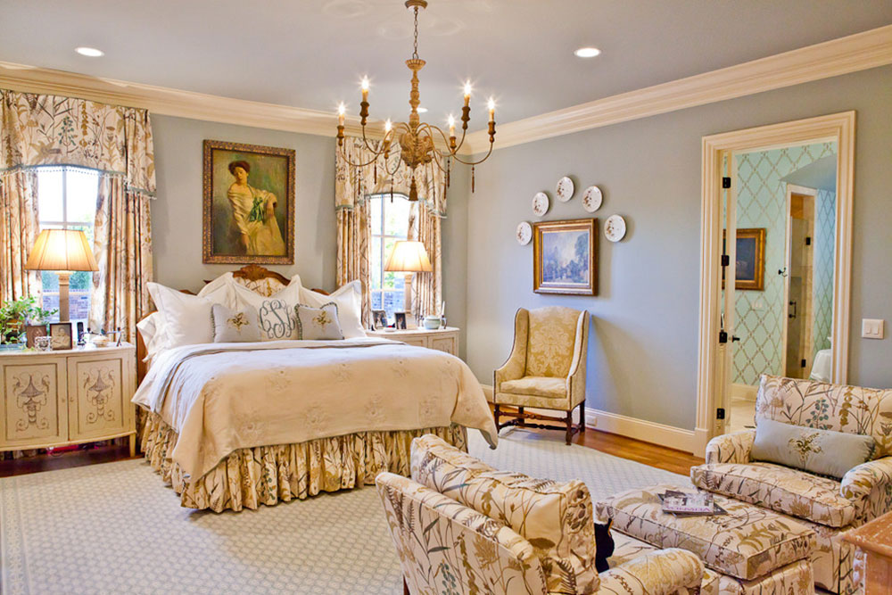 Cooper Creek Master Bedroom-by-Eric-Ross-Interiors-LLC How much does it cost to build a master bedroom and bathroom?