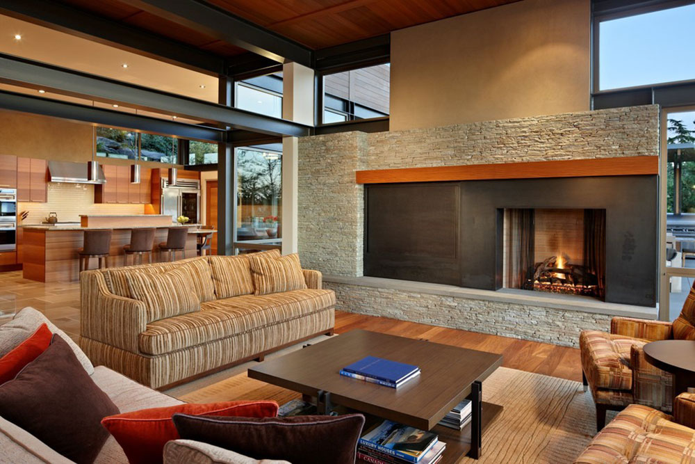 Lake-House-Two-Living-Room-by-McClellan-Architects How to arrange furniture in an uncomfortable living room