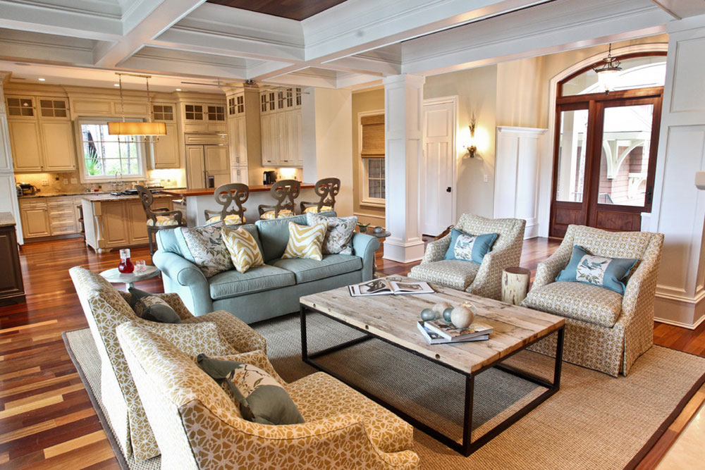 Kiawah-Family-Home-by-Margaret-Donaldson-Interiors How to arrange furniture in a clumsy living room