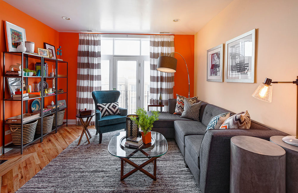 Contemporary Apartment-Living-Room-in-Chicago-von-Brooke-Lang-Design How to arrange furniture in a clumsy living room