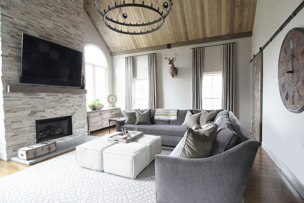 Rustic Family Room-Living Room-by-Brad-Ramsey-Interior How to arrange furniture in a clumsy living room