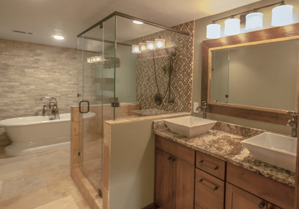 Castle-Pines-Rustic-Finished-Basement-by-Brothers-Construction How much does it cost to add a bathroom in the basement?  (Replied)