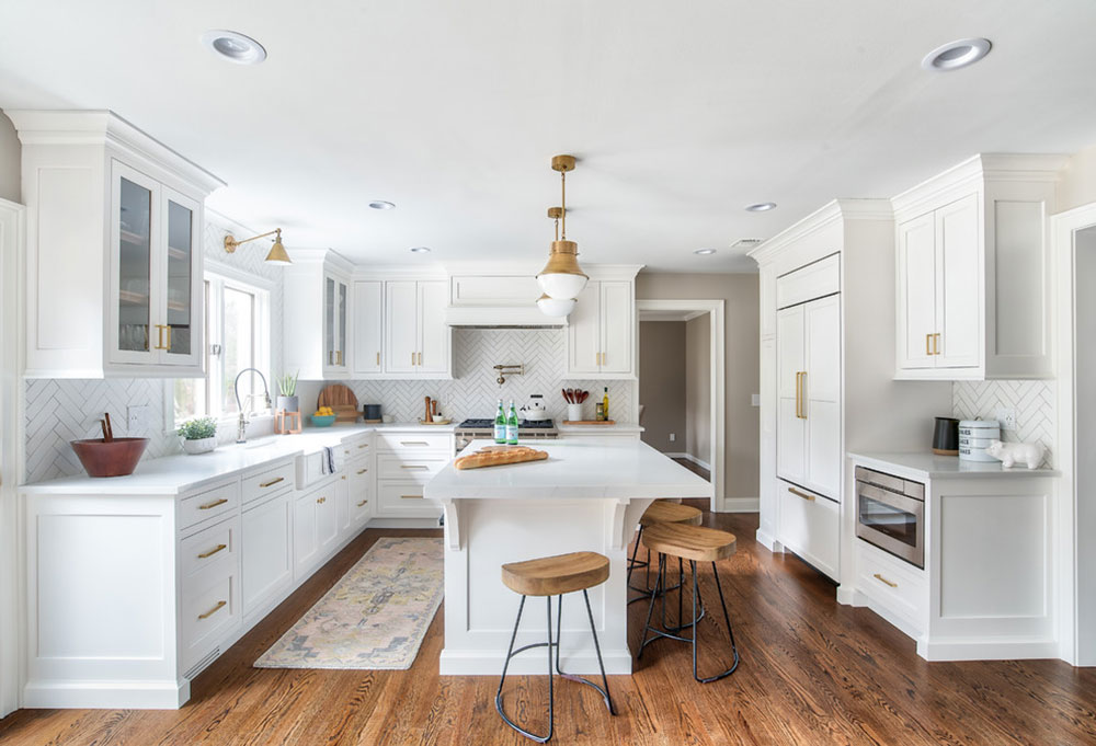 Partridge-Project-by-Stonington-Cabinetry-and-Designs Decorating ideas for a kitchen with a breakfast bar