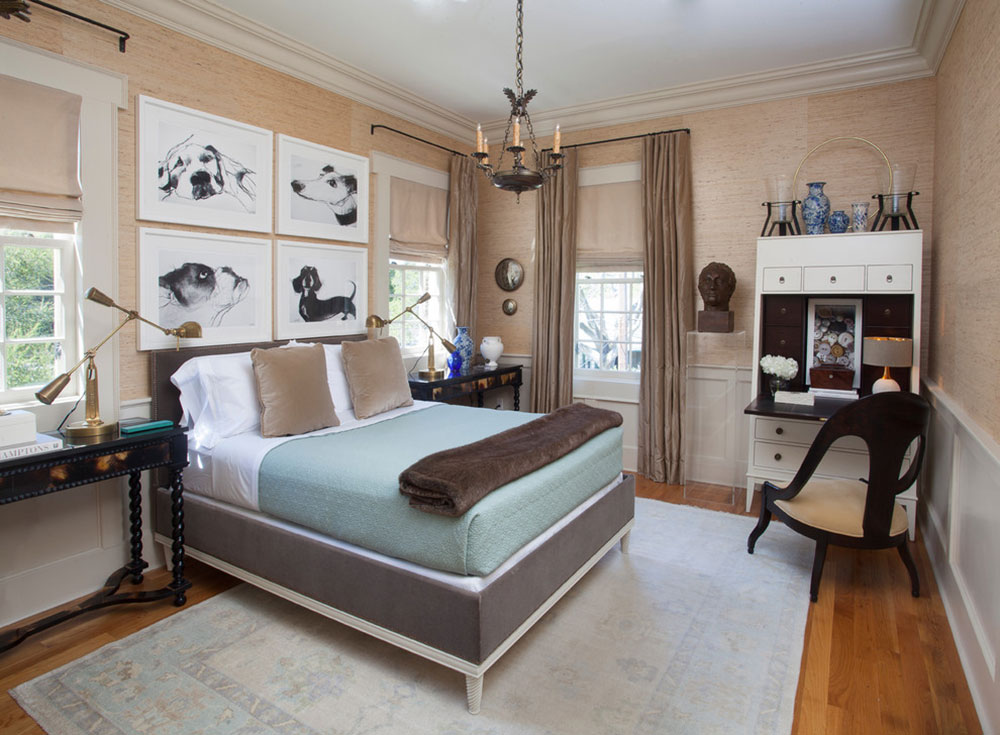 CLEAN-TRADITIONAL-by-TY-LARKINS-INTERIORS How to arrange a small bedroom with a queen-size bed
