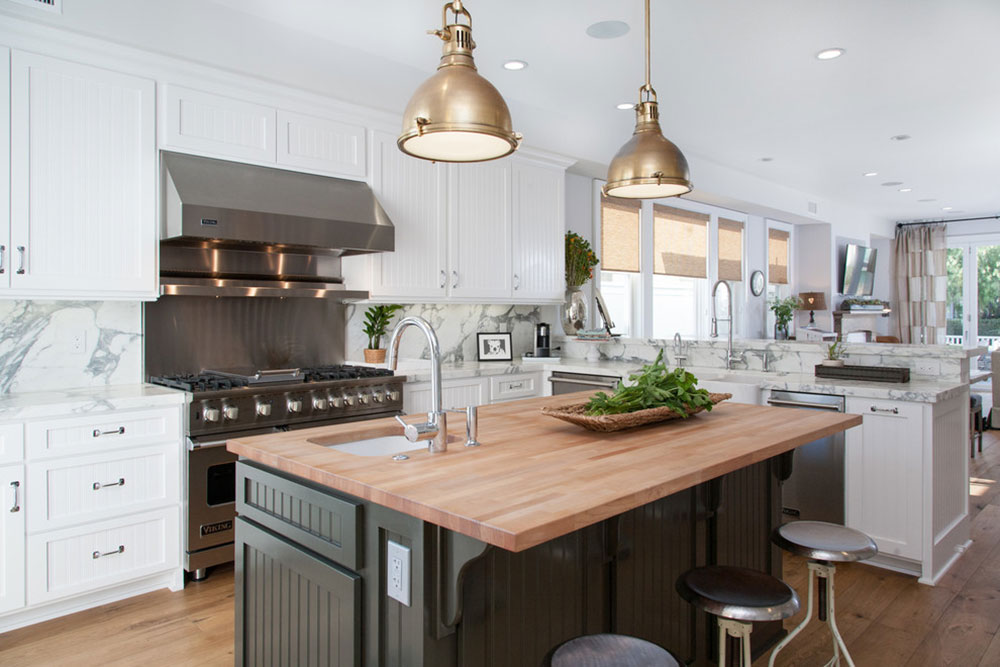 California-Cape-Cod-von-Built-Custom-Homes-LLC How much does a kitchen island cost?  Answered quickly