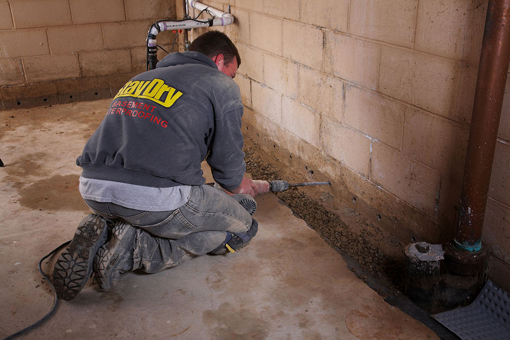 Internal drainage1 How much does it cost to waterproof a basement?  (Replied)