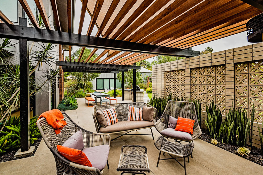 Leucadia-Mid-Century-by-DZN-Partner How to attach a patio roof to an existing house