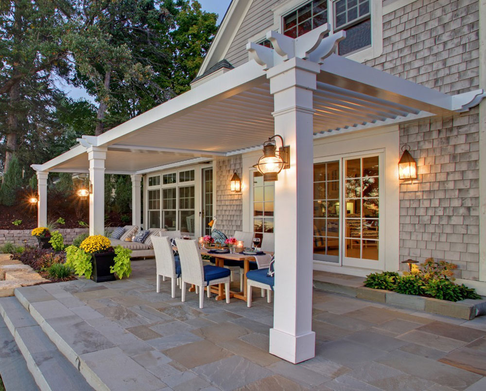 Louvered-Roof-System-by-Dart-Awnings How to attach a patio roof to an existing house
