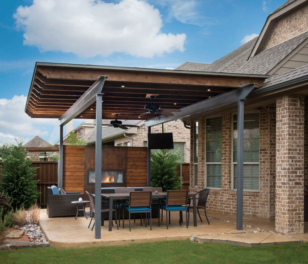 Side-yard-patio-extension-through-southwest-fence-n-deck How to attach a patio roof to an existing house