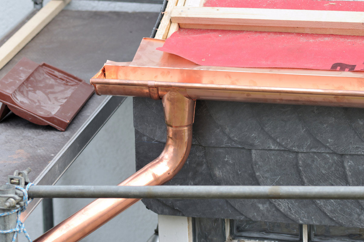 Copper gutter How much do seamless gutters cost?  What you should expect