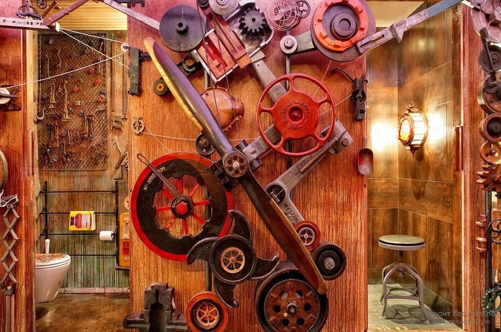 t1-93 The steampunk color palette and the colors for your room decoration