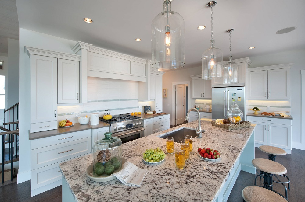 t3-123 worktops made of white ice granite, inspiration and tips for their use