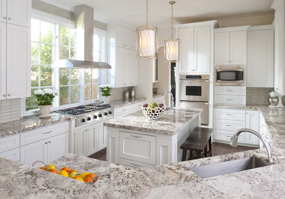 t3-124 White ice granite countertops, inspiration and tips for using them
