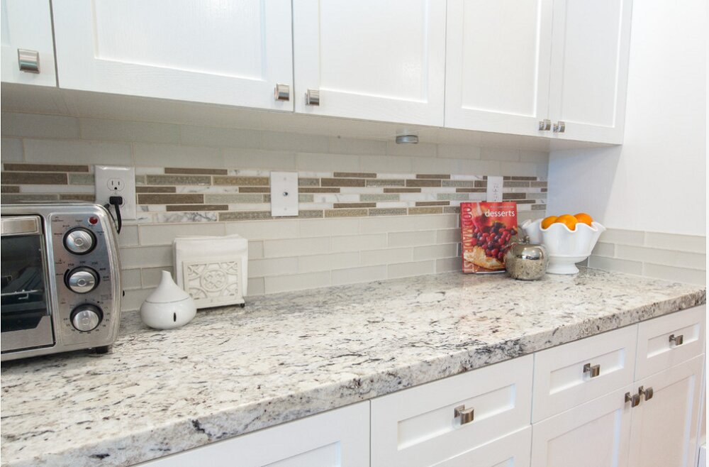 t5-15 worktops made of white ice granite, inspiration and tips for their use