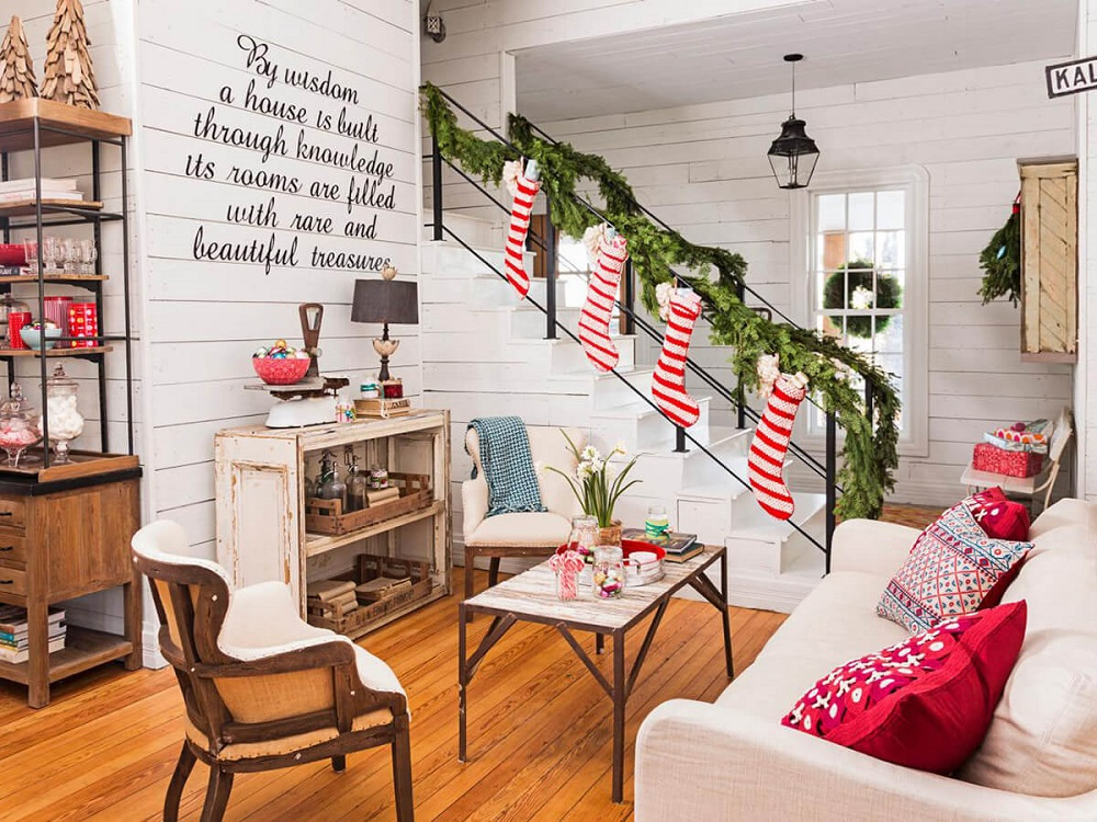 t3-156 Great ideas for decorating Christmas stairs that you should definitely try