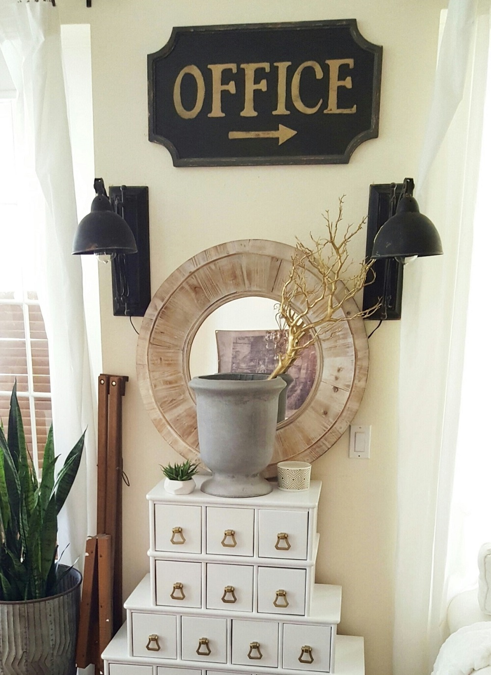 t3-71 How to use a vintage pharmacy cabinet in your home decor