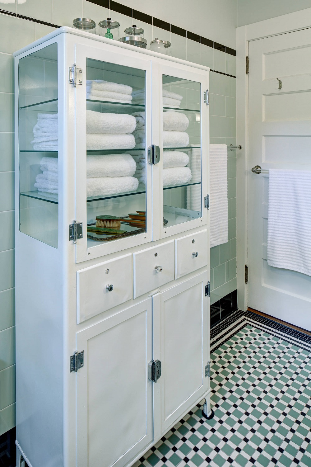 t3-59 How to use a vintage pharmacy cabinet in your home decor