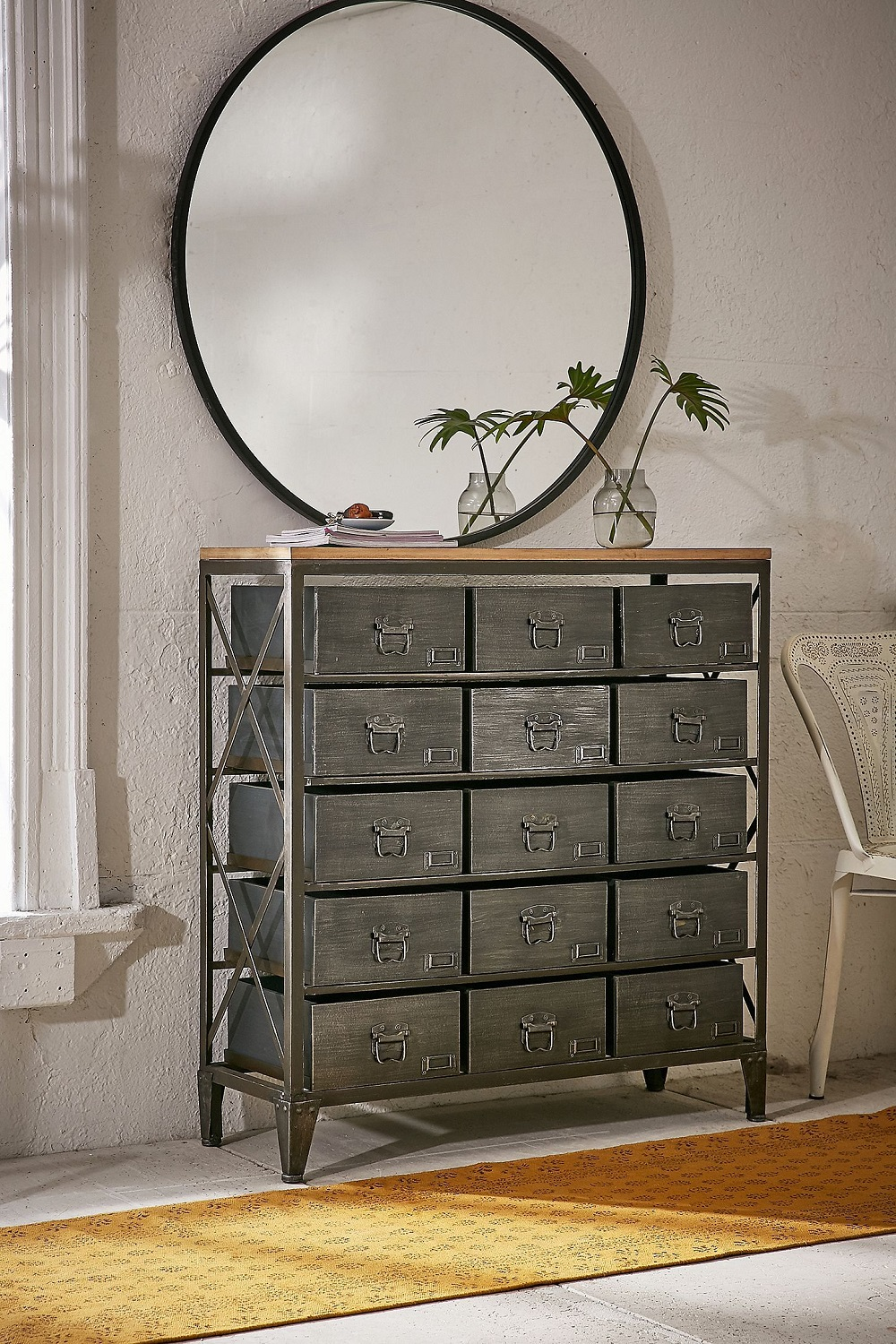 t3-64 How to use a vintage pharmacy cabinet in your home decor