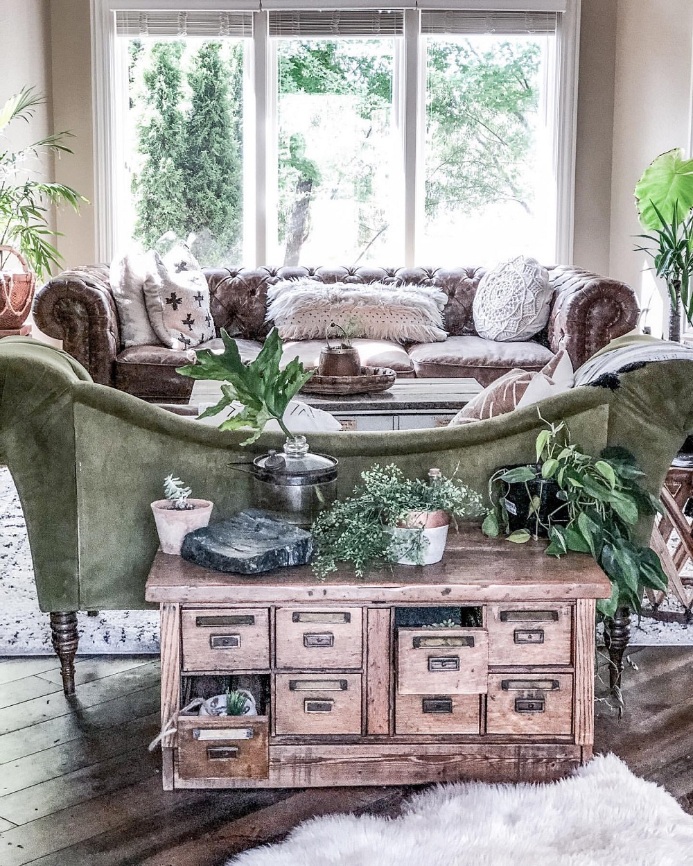 t3-62 How to use a vintage pharmacy cabinet in your home decor