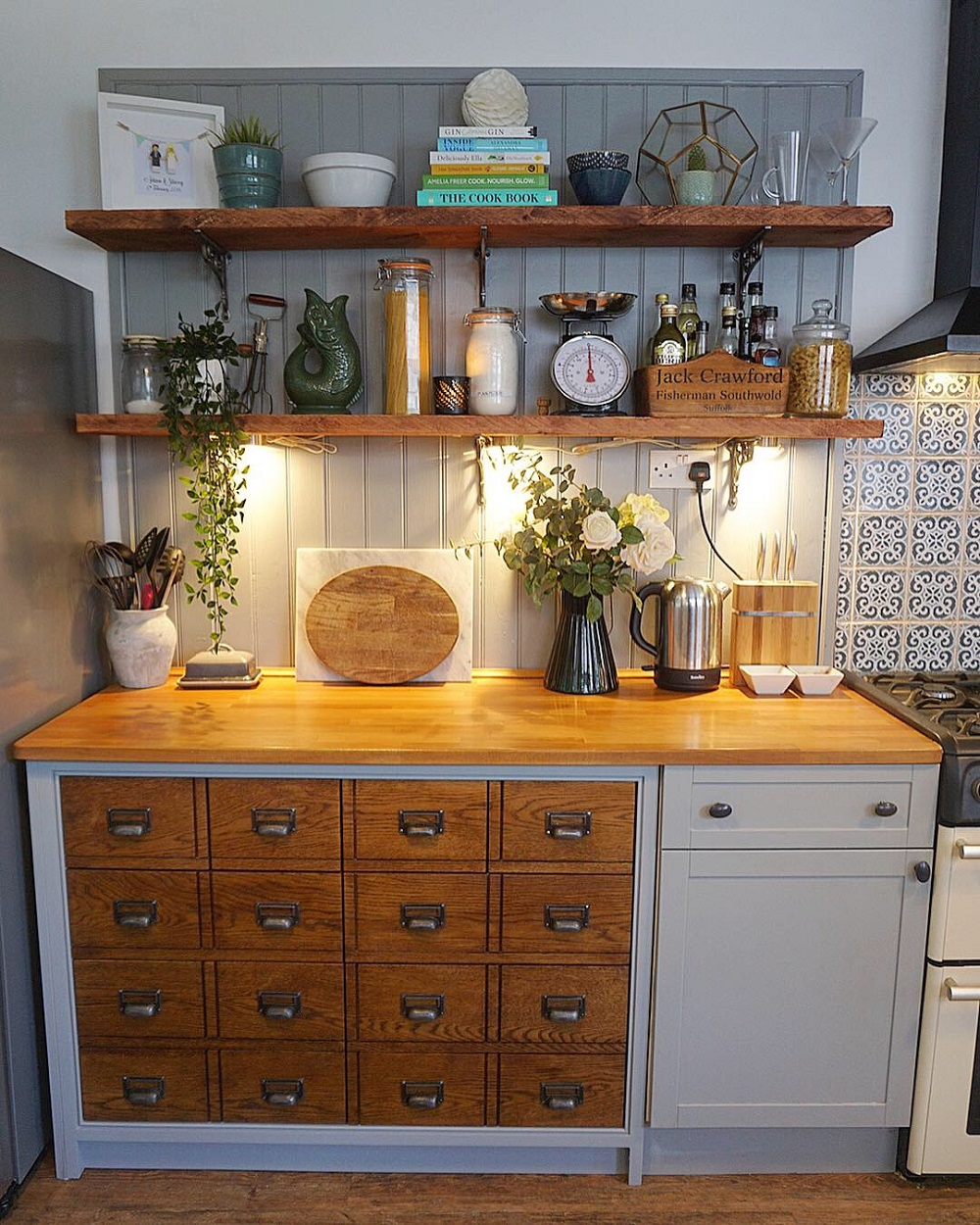 t3-63 How to use a vintage pharmacy cabinet in your home decor