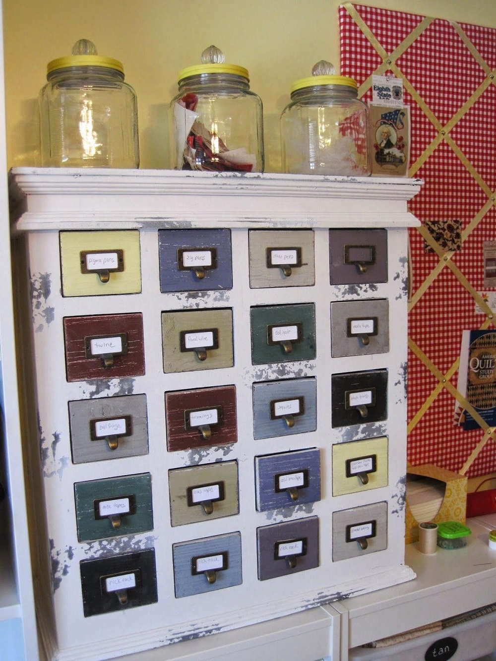 t3-70 How to use a vintage pharmacy cabinet in your home decor