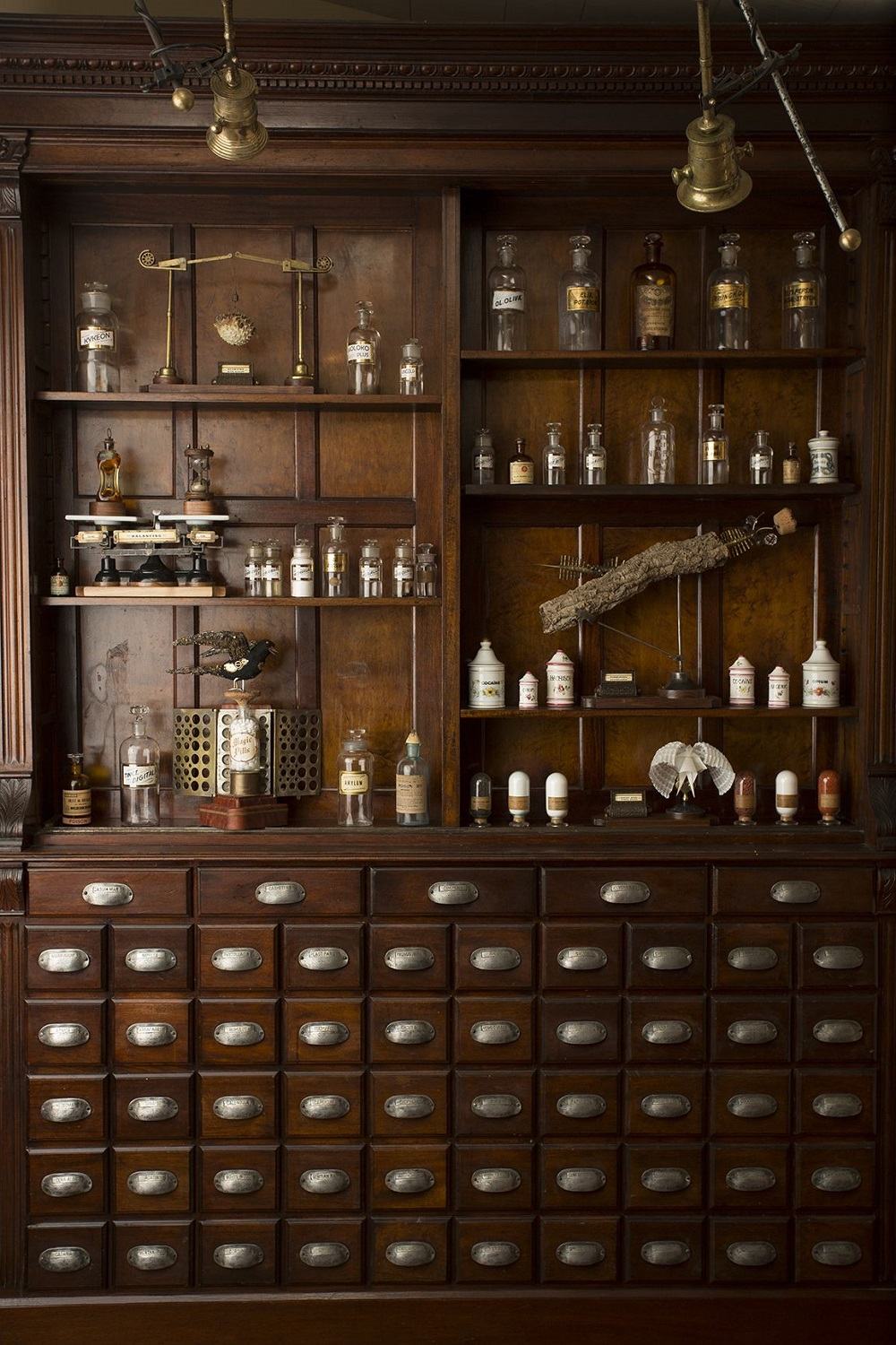 t3-69 How to use a vintage pharmacy cabinet in your home decor