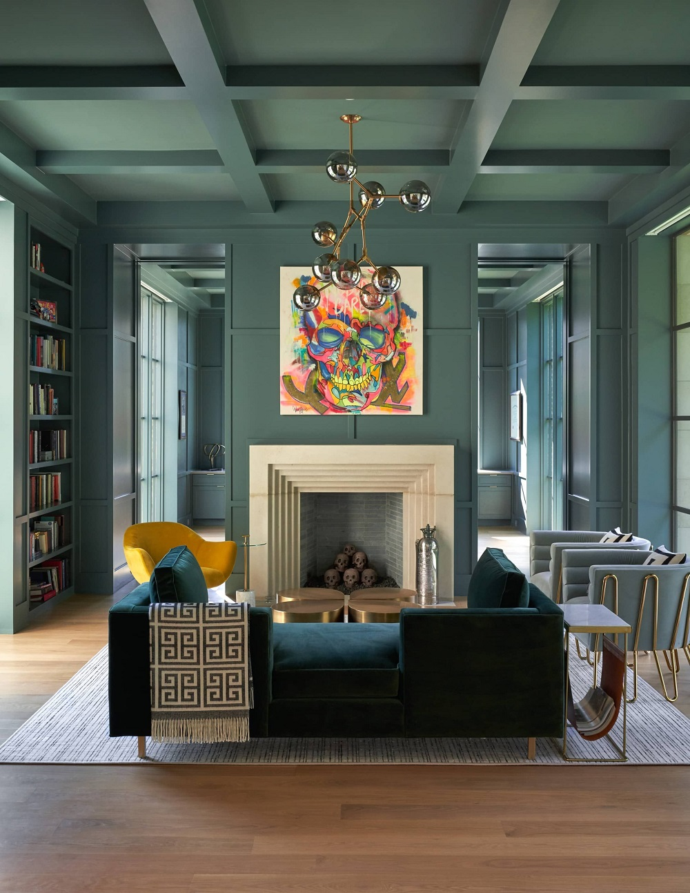 Ceil1 Great ideas for coffered ceilings that you can try and the costs involved