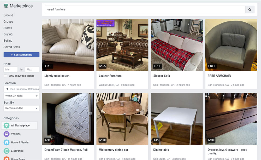Screenshot_10 The best used furniture stores where you can buy used furniture