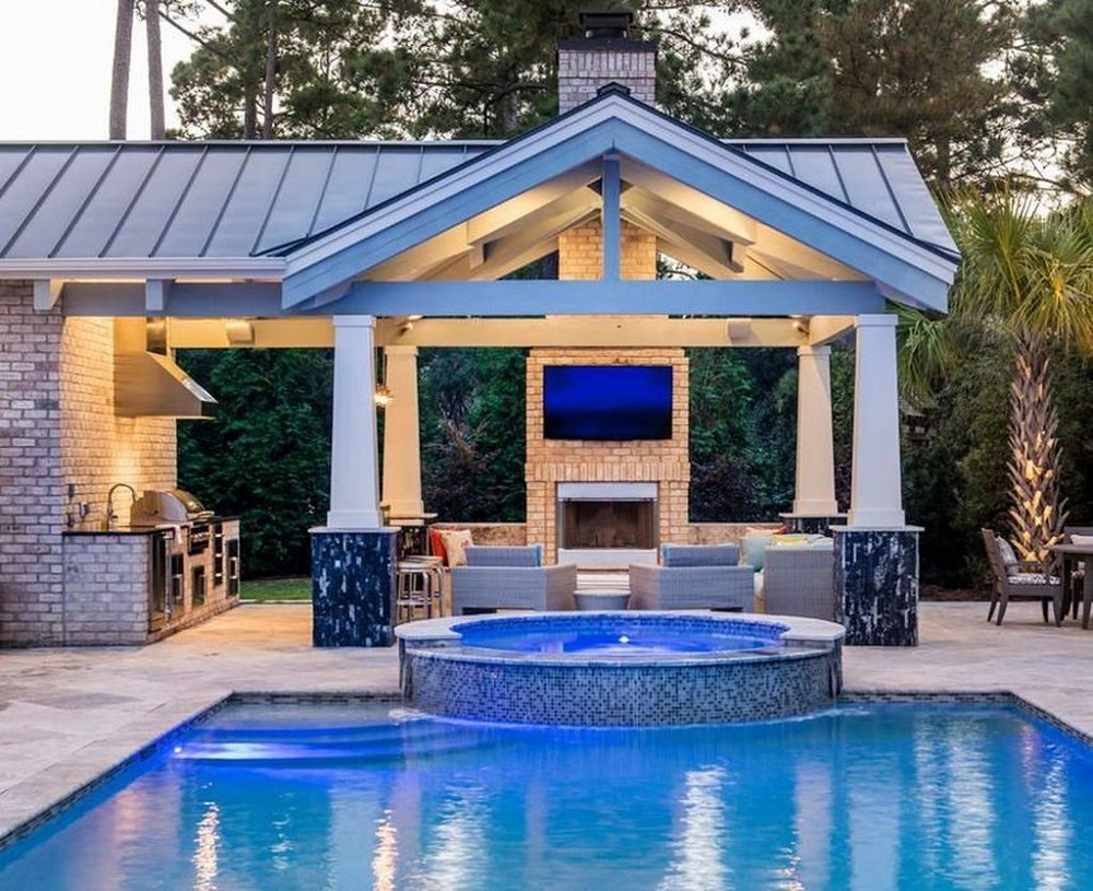 p9 Fantastic pool house designs that make your pool room look great