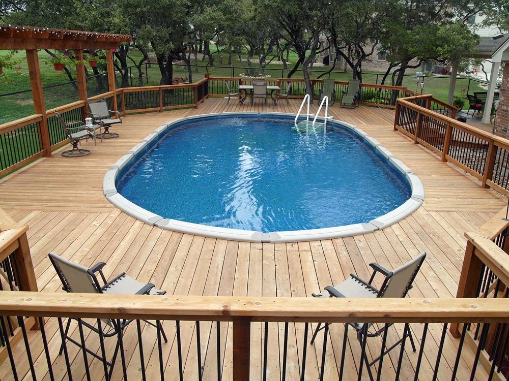 ag12 Cool above-ground pool decks as inspiration for your own