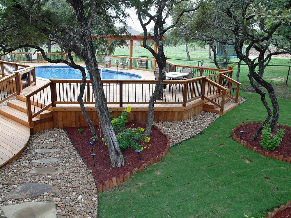 ag11 Cool above ground pool decks as inspiration for your own