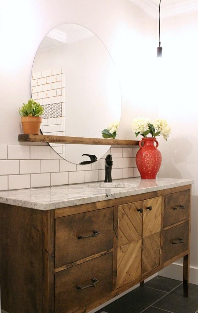 van1 DIY bathroom vanity ideas and options you can try