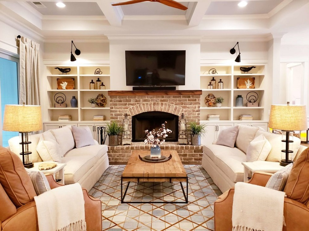 bf10-1 How to do a breathtaking renovation of the brick fireplace