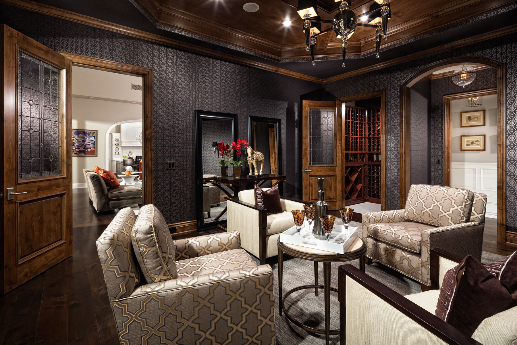 Wood living room wallpaper tips and ideas for your walls