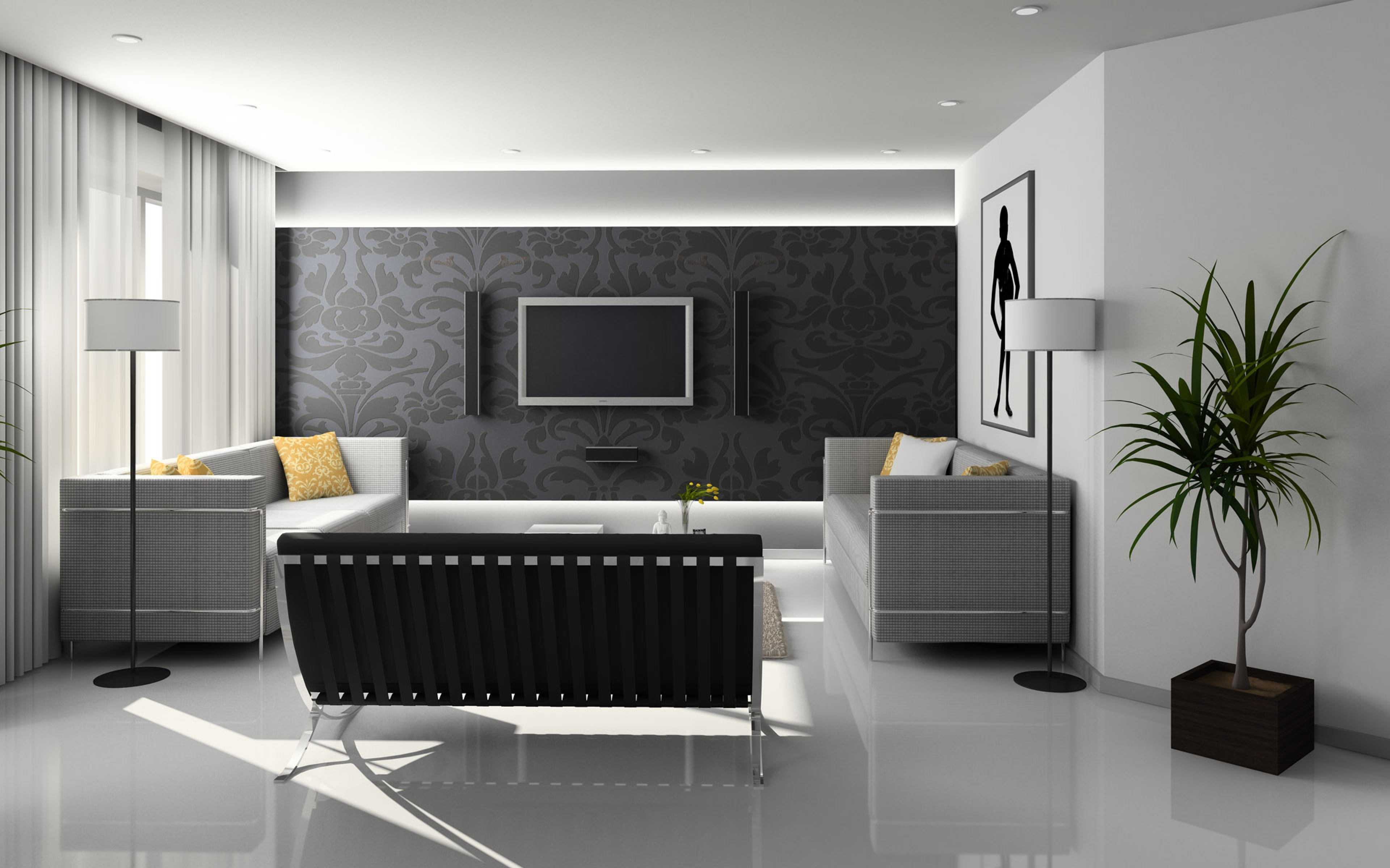 text3 Tips and ideas for wallpaper in the living room that you can use on your walls