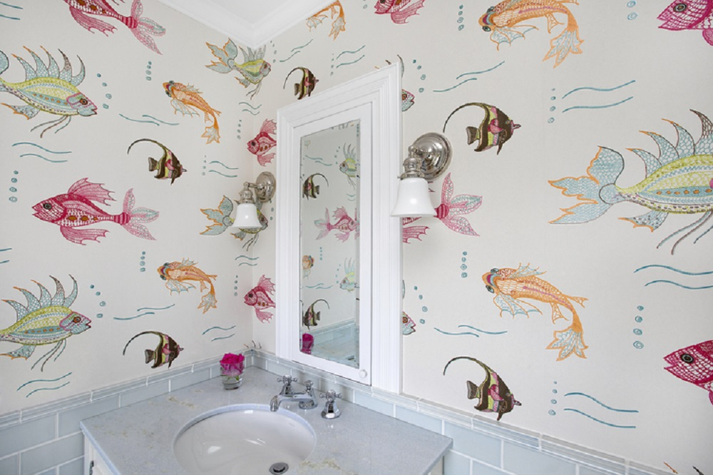 OL64LB bathroom wallpaper ideas you can try in your home