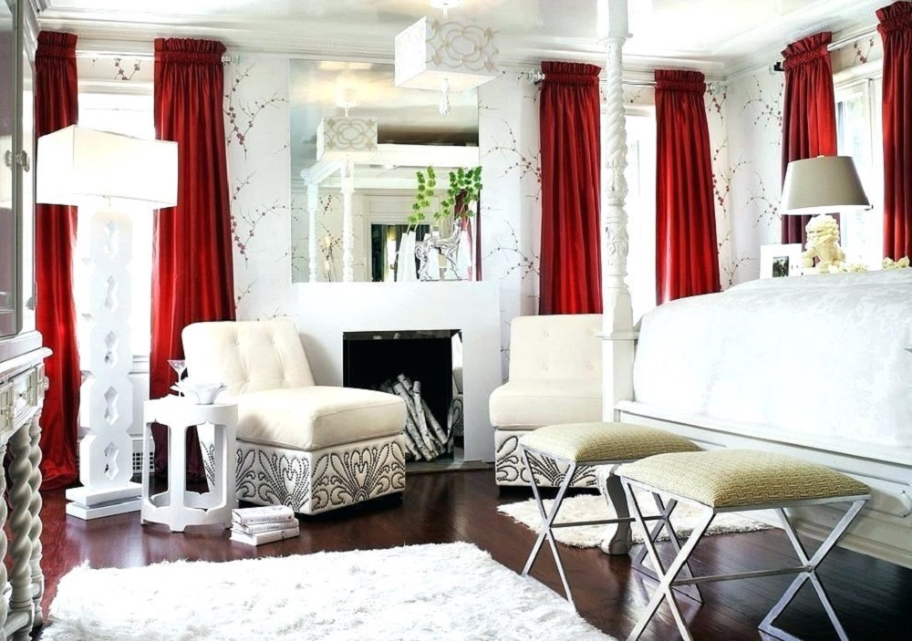red-dining-room-curtains-for-walls-beige The many types of curtains that you should know before you buy one