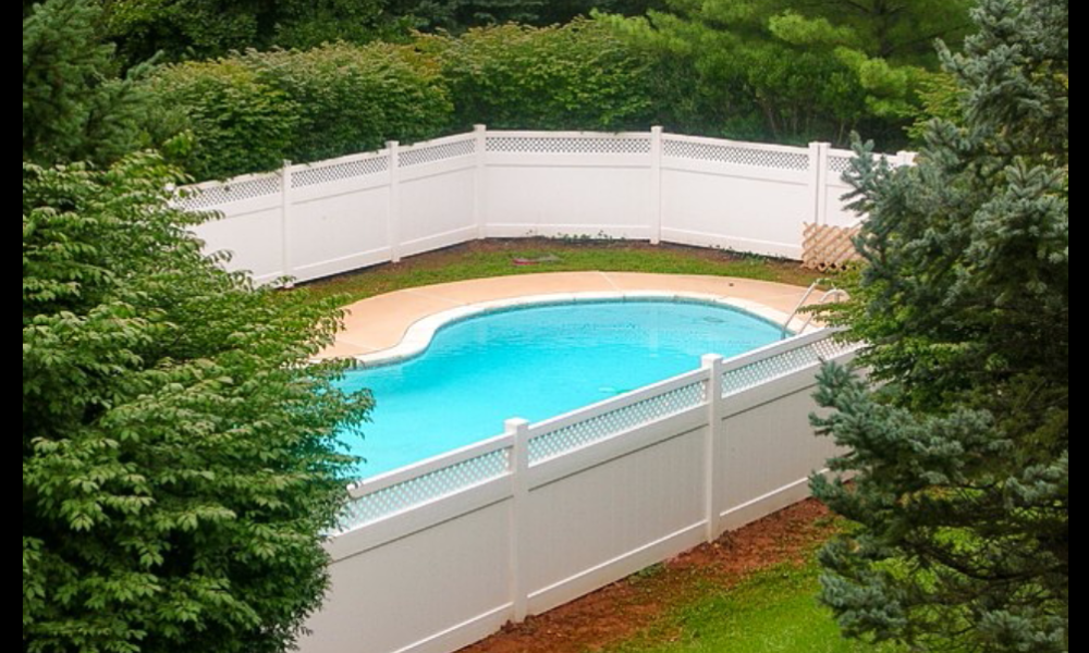 Vinyl 1000x600 pool fence ideas to make the pool look amazing