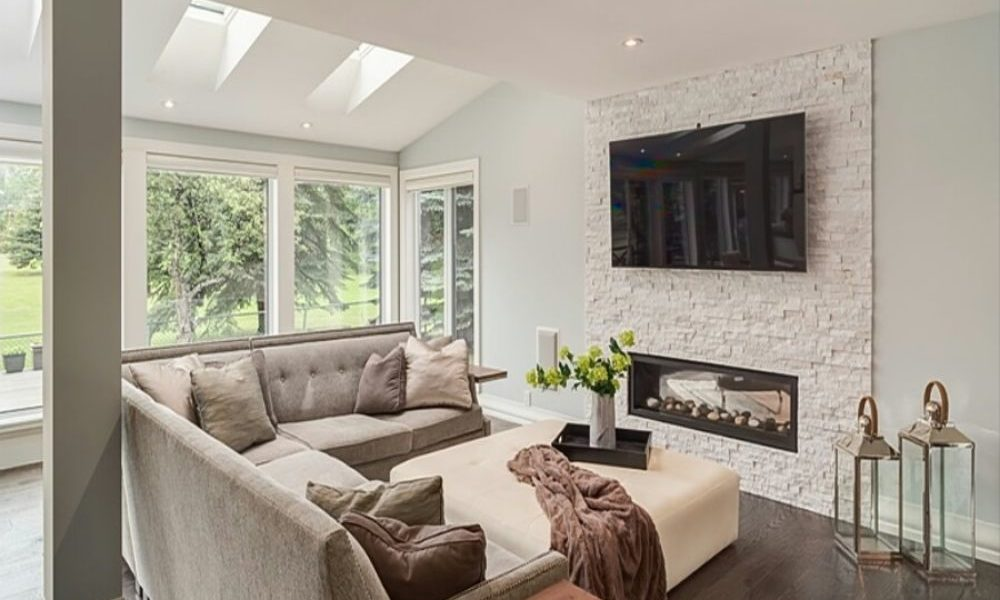 earthy-1-1000x600 fireplace ideas made of white brick for your living room decor