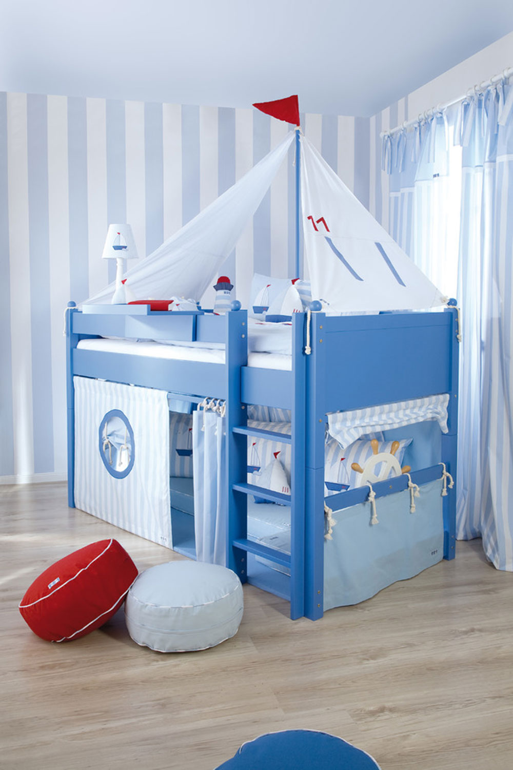 Sailboat-themed-nursery-from-the-baby-cot-shop ideas for toddlers' rooms to offer your child the best possible room
