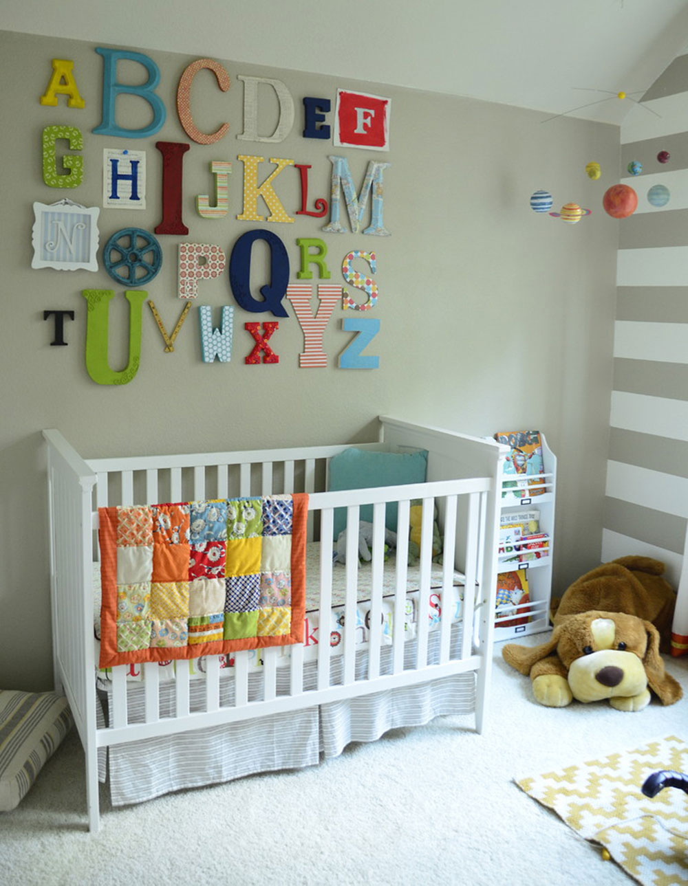 Alphabet-Wall-Art-by-nessadee ideas for toddlers' rooms to give your child the best possible space