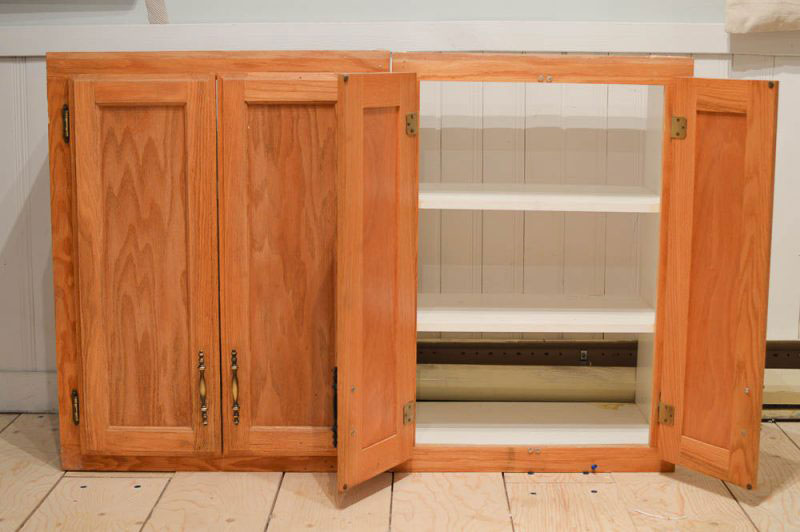 Cupboards painting over stained wood (how to do it properly)
